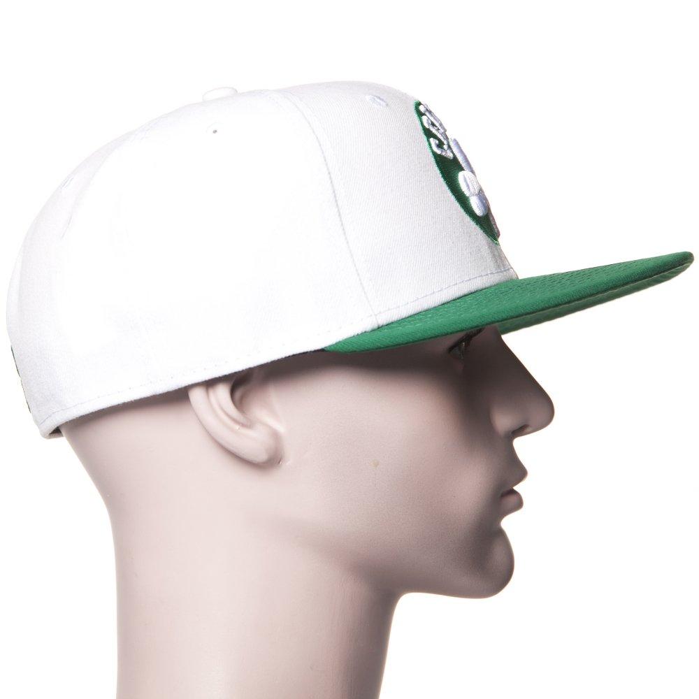 ... Boné New Era  59Fifty White Top 2 Boston Celtics WH GN ... 060394788b1