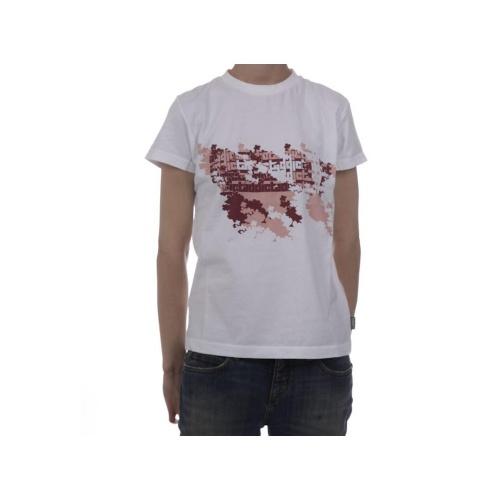 T-shirt de mulher da marca Addict. 100% Algodão. Cor: branco.