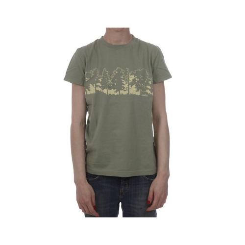 T-Shirt de mulher da marca Addict. 100% Algodão. Cor: verde.