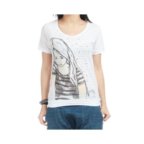 T-Shirt Mulher Roxy: Heart Core WH, XS