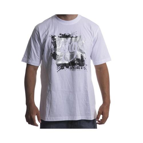 Wrung Tshirt: Painted Logo WH, XL