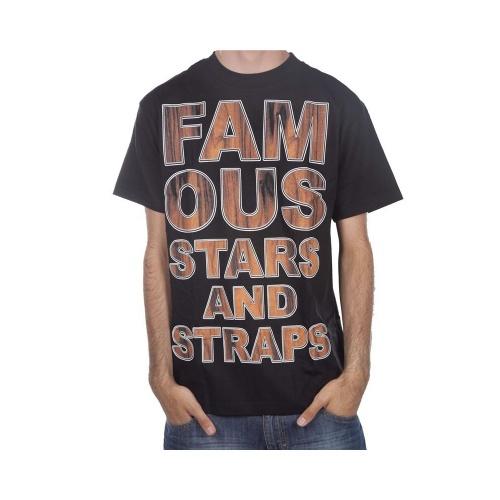T-Shirt Famous Stars&Straps. Cor: preto/marrom.