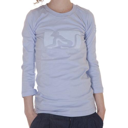 T-Shirt para mulher de manga 3/4 da marca Drunk Munky. Cor: azul claro.