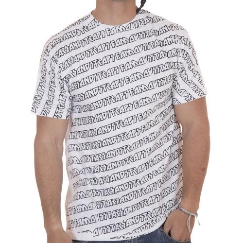 T-Shirt 100% algodão. Desenho serigrafado. Marca Famous Stars&Straps. Cor: branco.