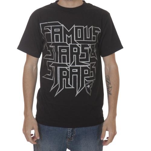 T-Shirt da marca Famous Stars & Straps. Cor: preto/cinza.