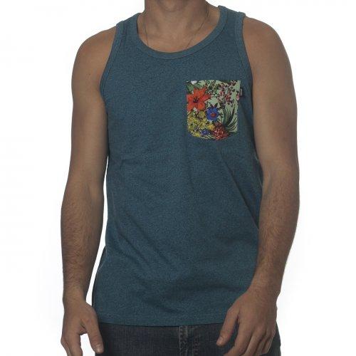 T-shirt de alças Wrung: Pocketank Heather BL