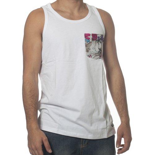 T-shirt de alças Wrung: Pocketank WH