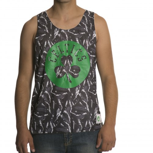 T-shirt de alças Mitchell & Ness: NBA Reversible Mesh Tank Boston Celtics GR/WH