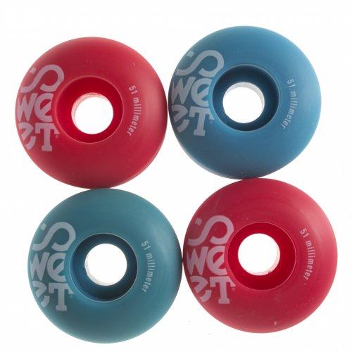 Rodas Sweet: Twins Blue/Red (51 mm)