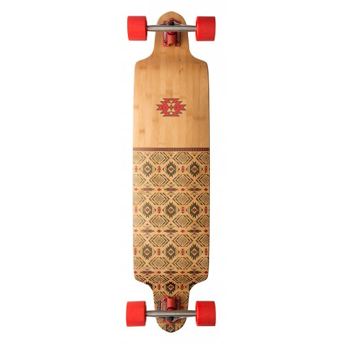 Longboard Completo Globe: Bannerstone Red/Bamboo