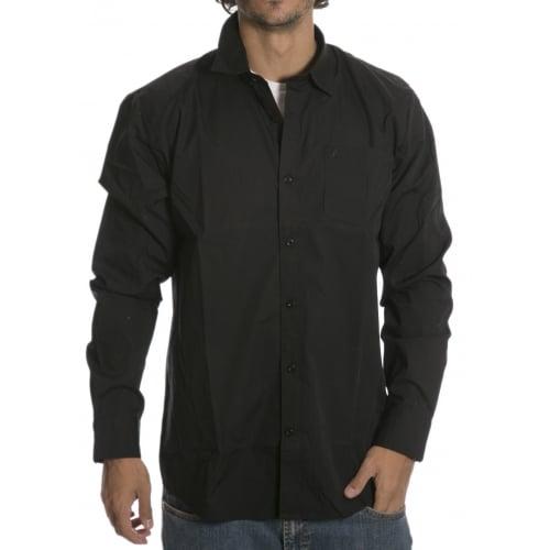 Camisa Volcom: Everett Solid LS BK