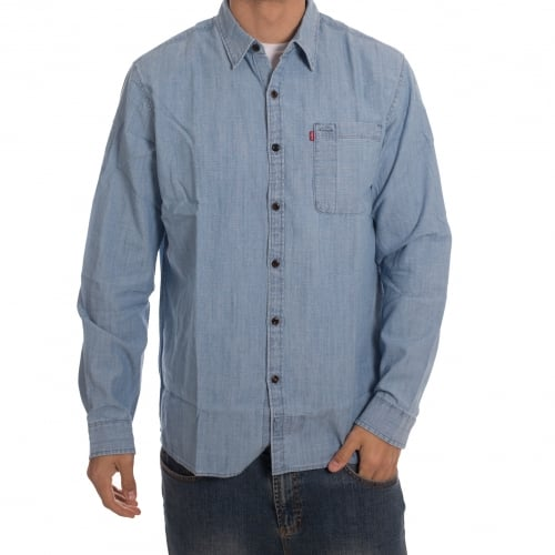 Camisa Levi's Skateboarding: Riveter Washed Chambray BL