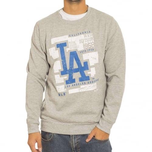 Sweatshirt Majestic: Graphic Crew LA Dodgers GR