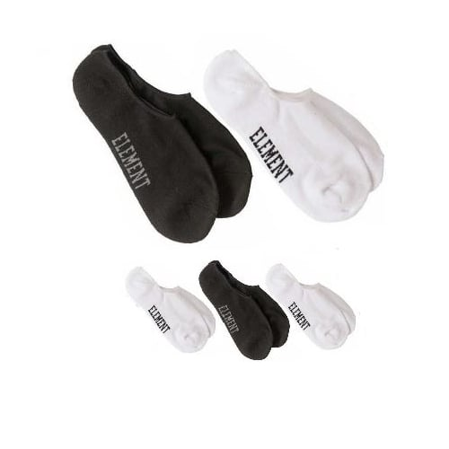 Meias Element: Low-Rise Socks 5 Pack WH/BK