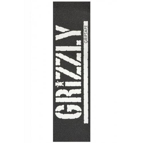 Lixa Grizzly: Oversized Stamp Print White