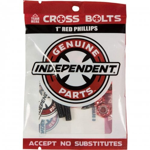 """Parafusos Independent: Cross Bolts Phillips Red 1"""""""