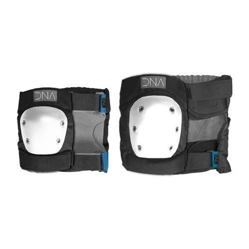 Set Protecções DNA: Classic Knee & Elbow Pack BK/WH