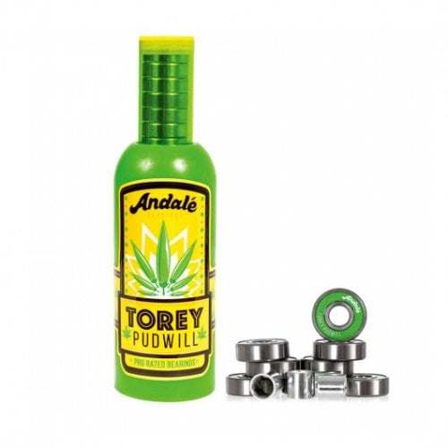 Rolamentos Andale: Torey Pudwill Green Hot Sauce Wax & Pro Rated Bearings