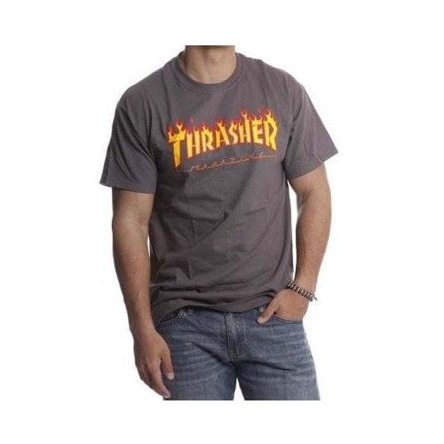 T-Shirt Thrasher: Flame Logo GR