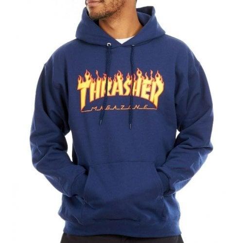 Sweatshirt Thrasher: Flame Logo Hood NV
