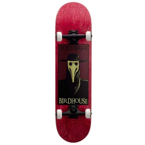 Skate Completo Birdhouse: Stage 3 Plague Doctor Red 8.0