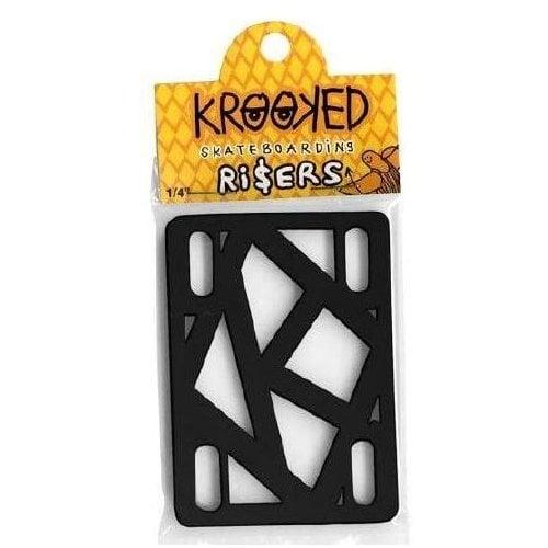 "Bases Krooked Skateboardings: Riser Pads Black 1/4"""