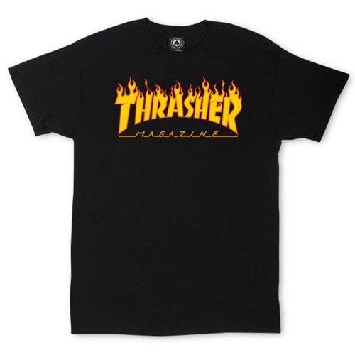 T-Shirt Thrasher: Flame Logo BK