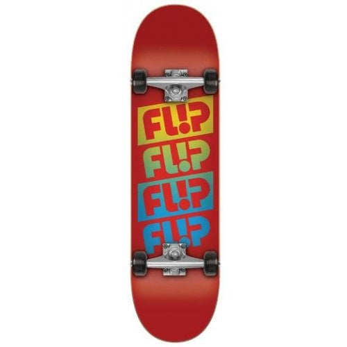 Skate Completo Flip: Team Quattro Red 7.88