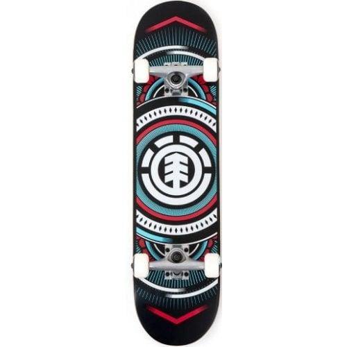 Skate Completo Element: Hatched Blue Red 7.75