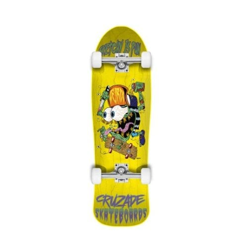 Skate Completo Cruzade: Sketchy Is Fun Yellow 9.0