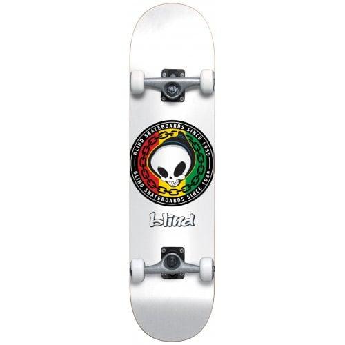 Skate Completo Blind: Rasta Reaper White 8.125x31.3