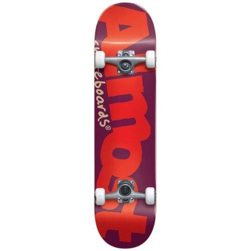 Skate Completo Almost: Bent Logo Yth Fp Burgundy 7.0x29.0