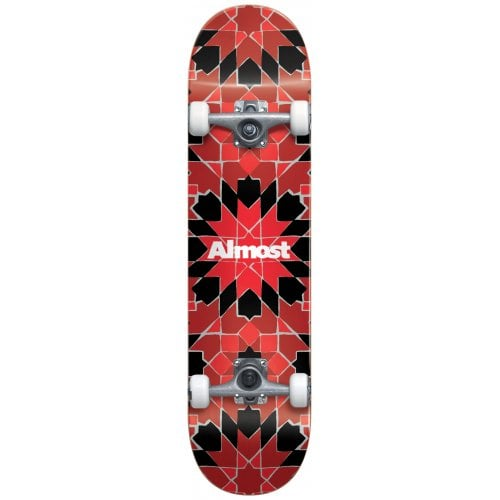 Skate Completo Almost: Tile Pattern red FP 7.75x29.2