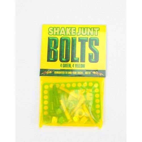 Parafusos Shake Junt: 1'' Phillips 4Yellow/4Green Set