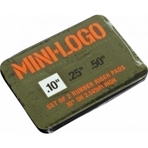 """Bases Mini-Logo: Riser Rubber 10"""" Black (Pack 2)"""