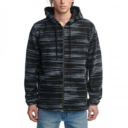 Sweatshirt Globe: Overcast Zip Thru Hoodie BK