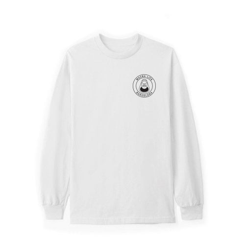 Macba Life LS T-Shirt: OG Logo WH