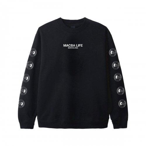 Sweatshirt Macba Life: Full Logo Crew BK