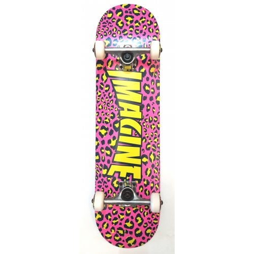 Skate Completo Imagine: Leopard Pink/Yellow 8.0
