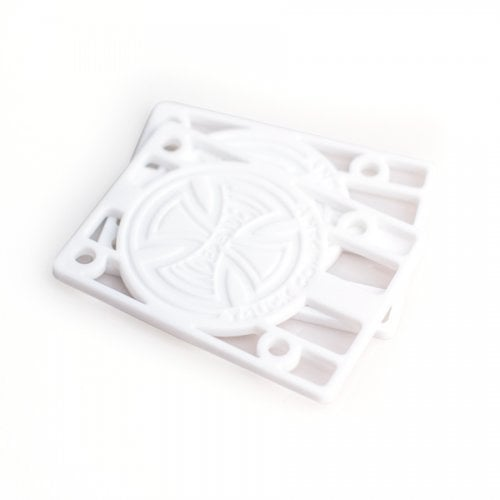"""Bases Independent: Risers 1/8"""" White"""
