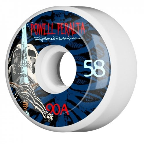 Rodas Powell Peralta: Ray Rod Skull & Sword White/Blue 90A (58mm)