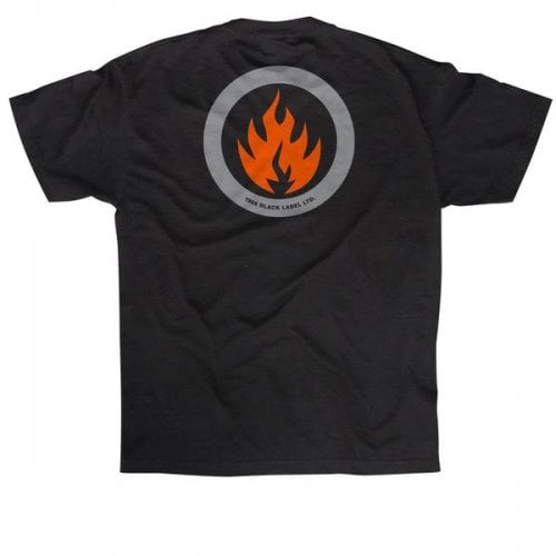 T-Shirt Black Label: Circle Flame BK