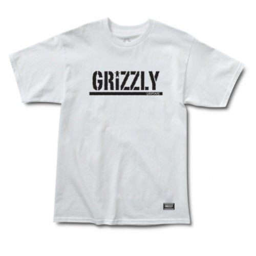 T-Shirt Grizzly: Stamp SS Tee WH