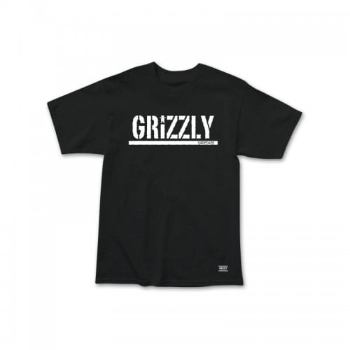 T-Shirt Grizzly: Stamp SS Tee BK