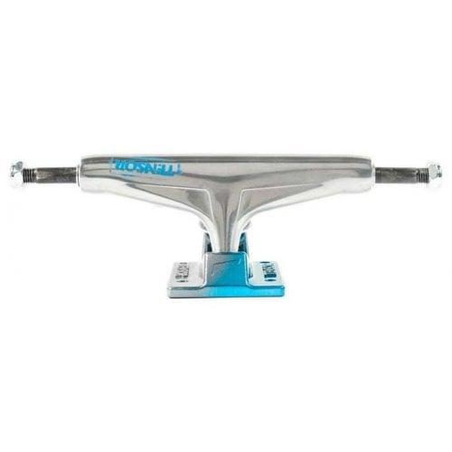 Trucks Tensor: Alum Stencil Mirror Raw/Light Blue Fade 5.5