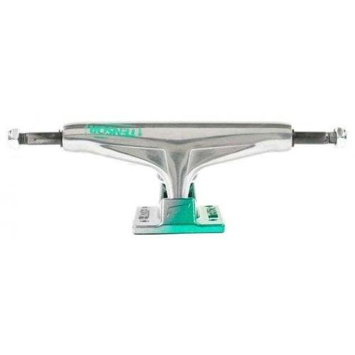Trucks Tensor: Alum Stencil Mirror Raw/Green Fade 5.25