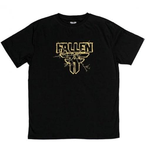 T-Shirt Fallen: Electric Black/Yellow