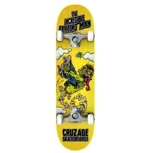 Skate Completo Cruzade: The incredible farting man 8.25x31.85