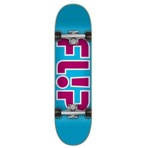 Skate Completo Flip: Team Outlined Light Blue 7.25x28