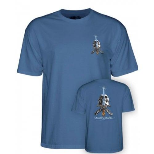 T-Shirt Powell Peralta: Skull & Sword Slate Blue